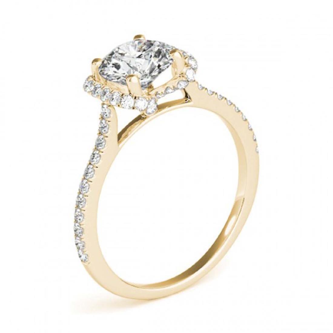 1.33 ctw VS/SI Diamond Halo Ring 18K Yellow Gold - - 3