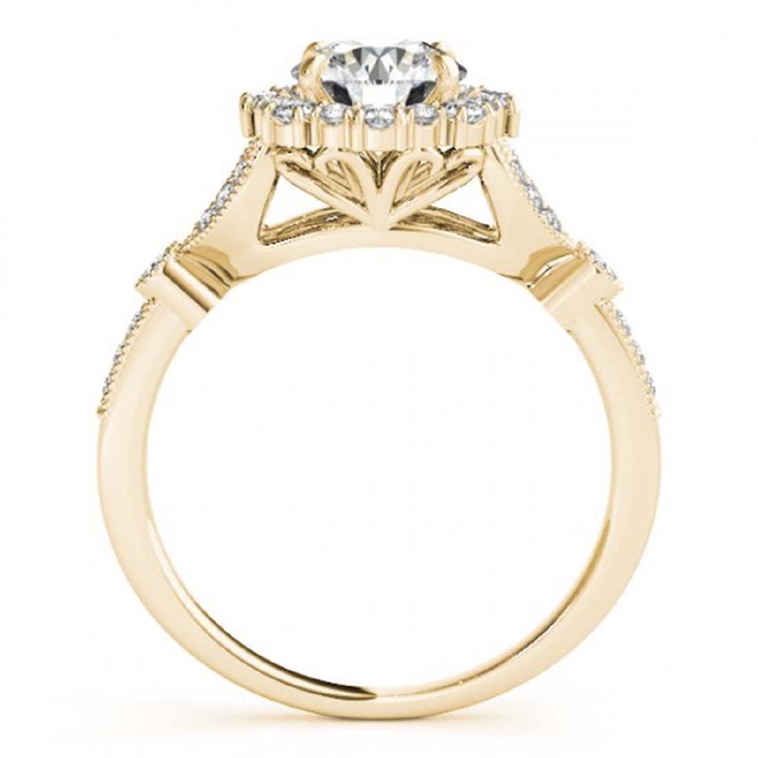 1 ctw VS/SI Diamond Halo Ring 18K Yellow Gold - - 2