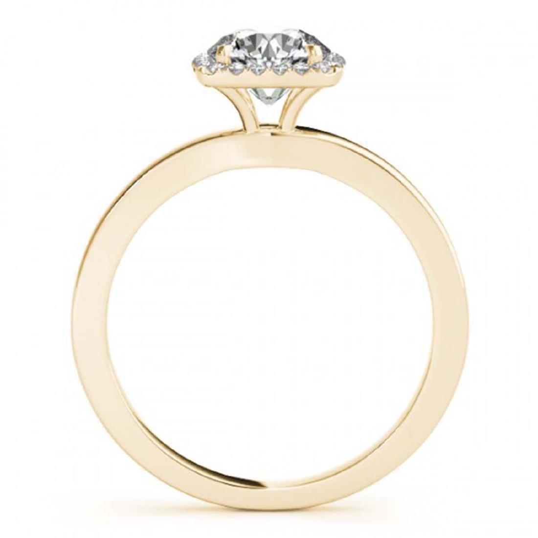 0.65 ctw VS/SI Diamond Halo Ring 18K Yellow Gold - - 2