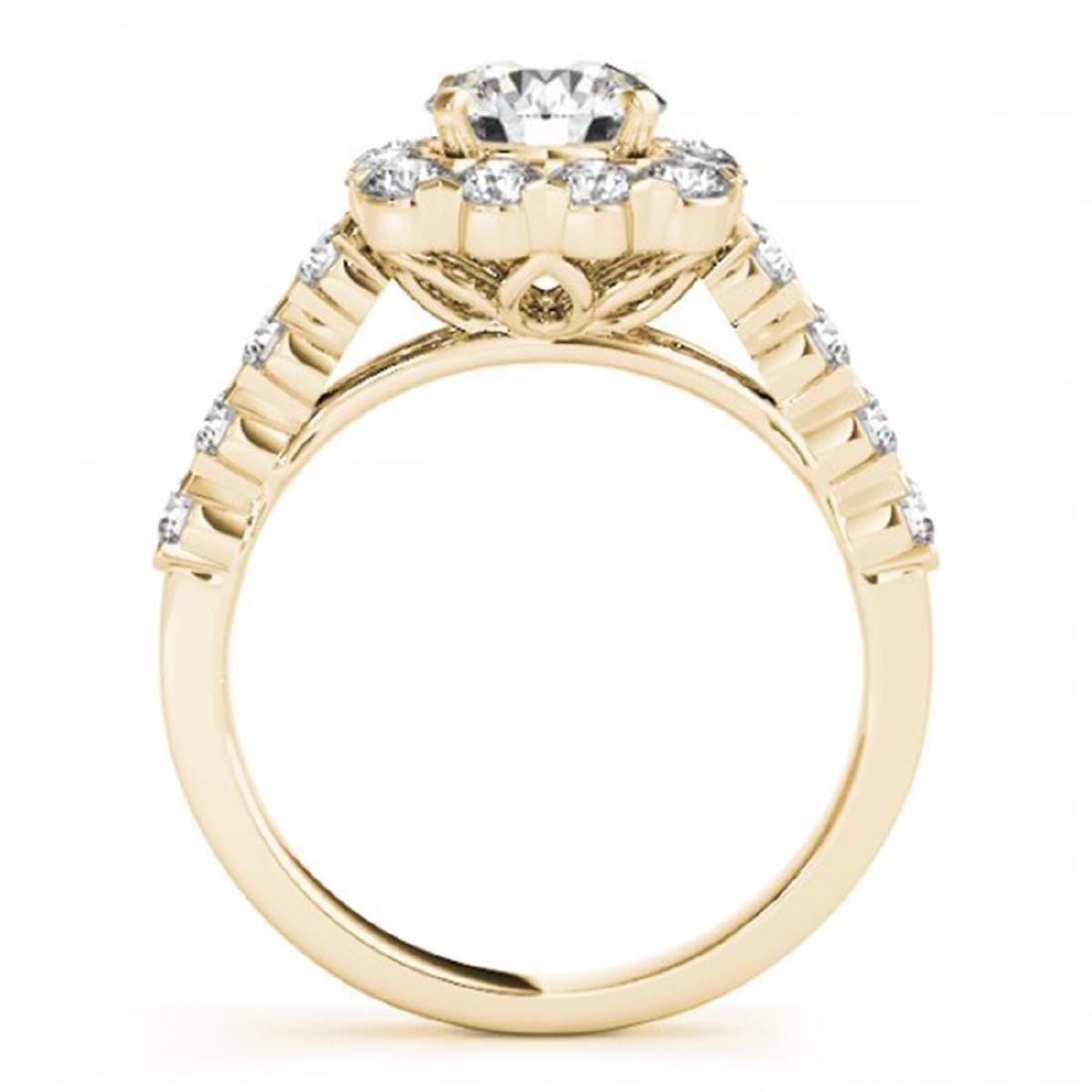 2.5 ctw VS/SI Diamond Halo Ring 18K Yellow Gold - - 2