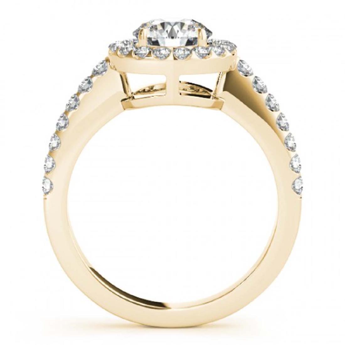 0.76 ctw VS/SI Diamond Halo Ring 18K Yellow Gold - - 2