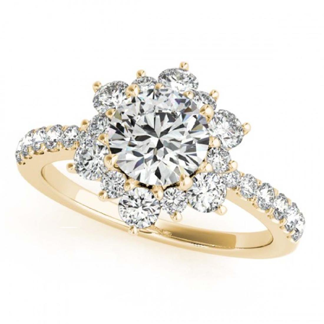 2.19 ctw VS/SI Diamond Halo Ring 18K Yellow Gold -