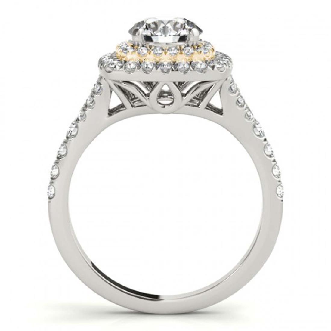 1.60 ctw VS/SI Diamond Solitaire Halo Ring 18K White & - 2
