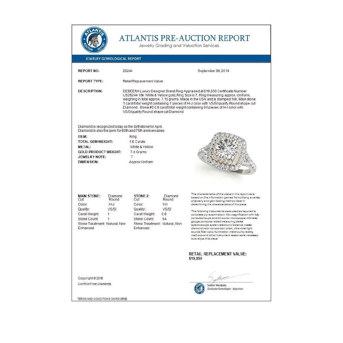 1.60 ctw VS/SI Diamond Solitaire Halo Ring 18K White & - 3