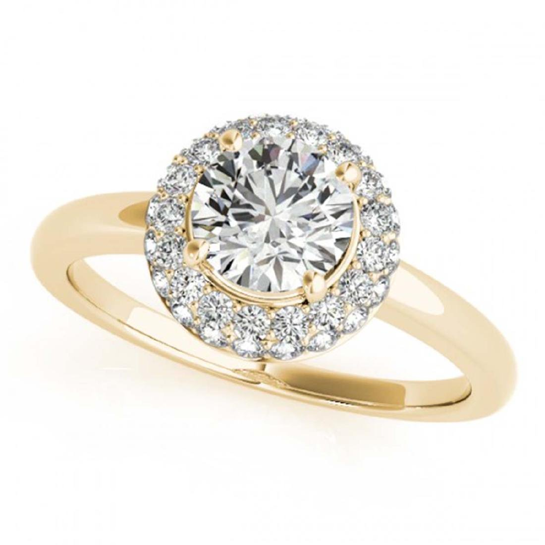 1 ctw VS/SI Diamond Halo Ring 18K Yellow Gold -
