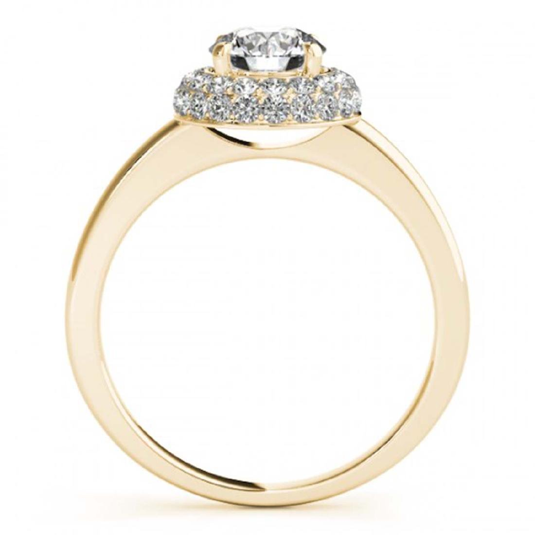 1 ctw VS/SI Diamond Halo Ring 18K Yellow Gold - - 2