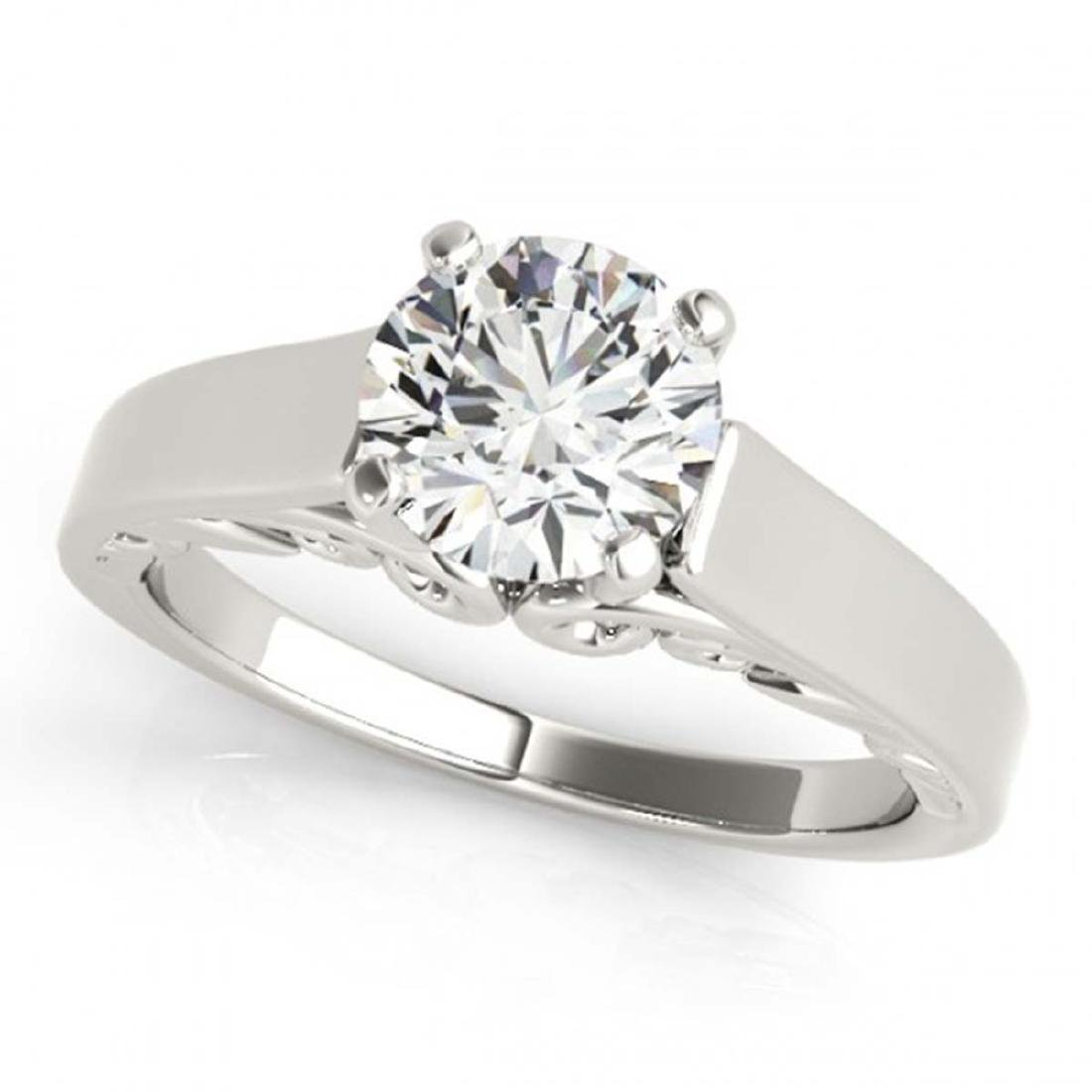 1 ctw VS/SI Diamond Ring 18K White Gold - REF-274H2M -