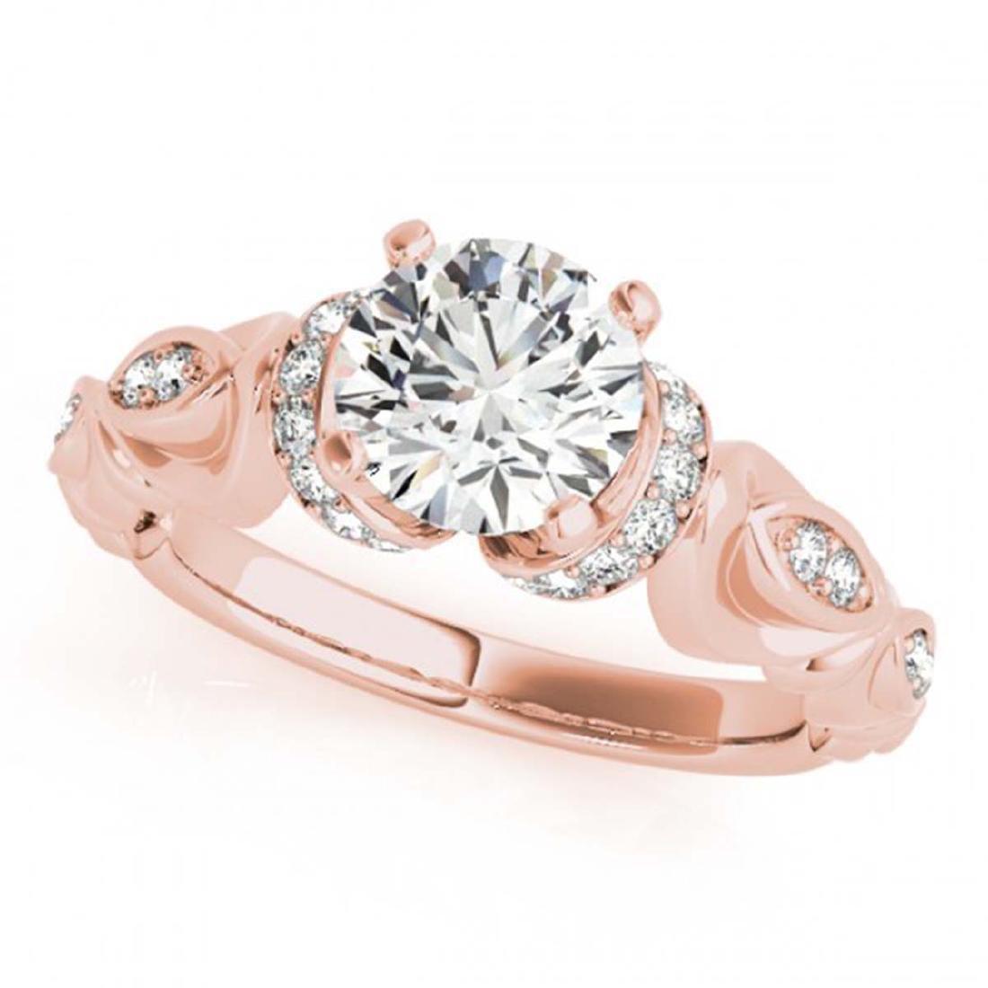 0.95 ctw VS/SI Diamond Ring 18K Rose Gold - REF-150A5V