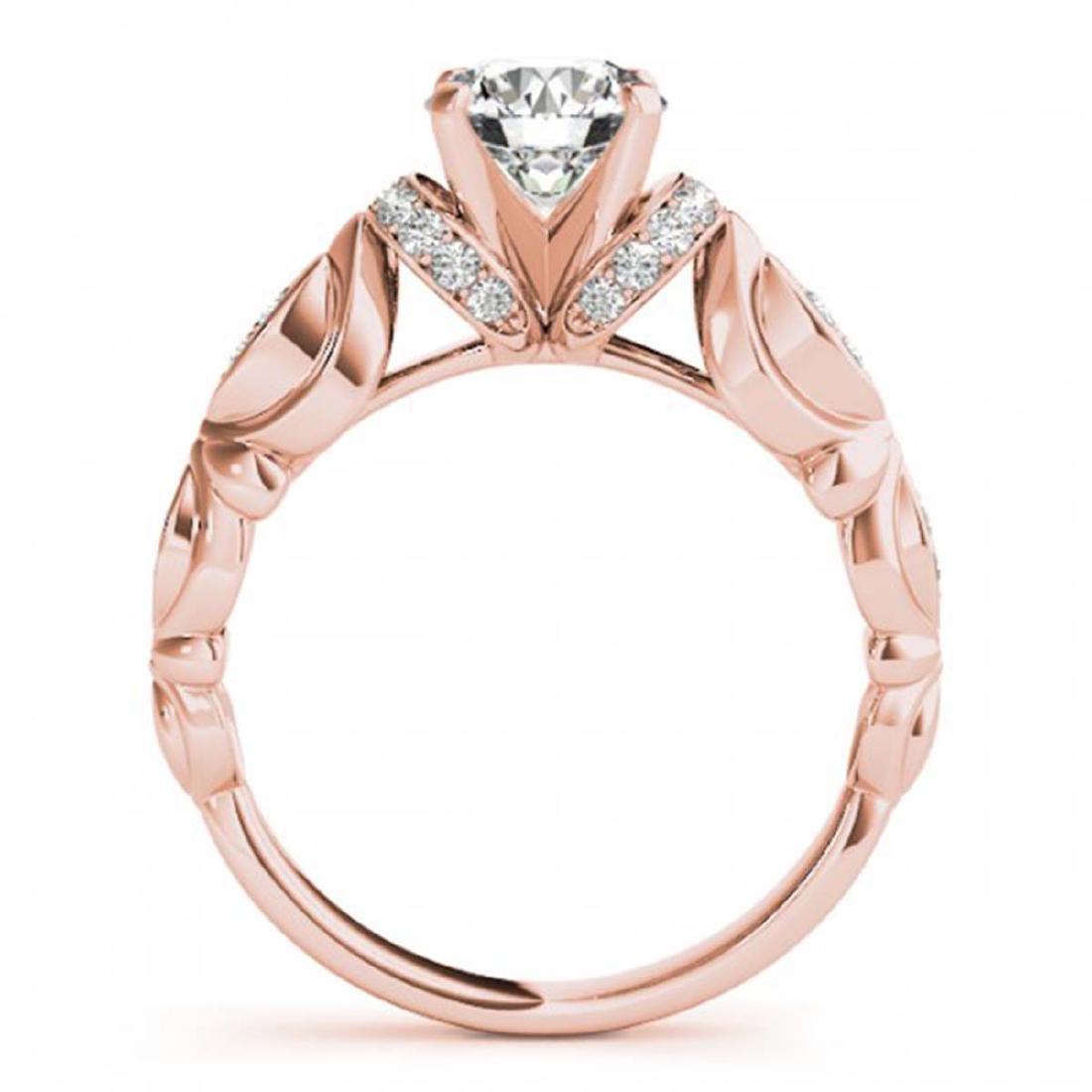 0.95 ctw VS/SI Diamond Ring 18K Rose Gold - REF-150A5V - 2