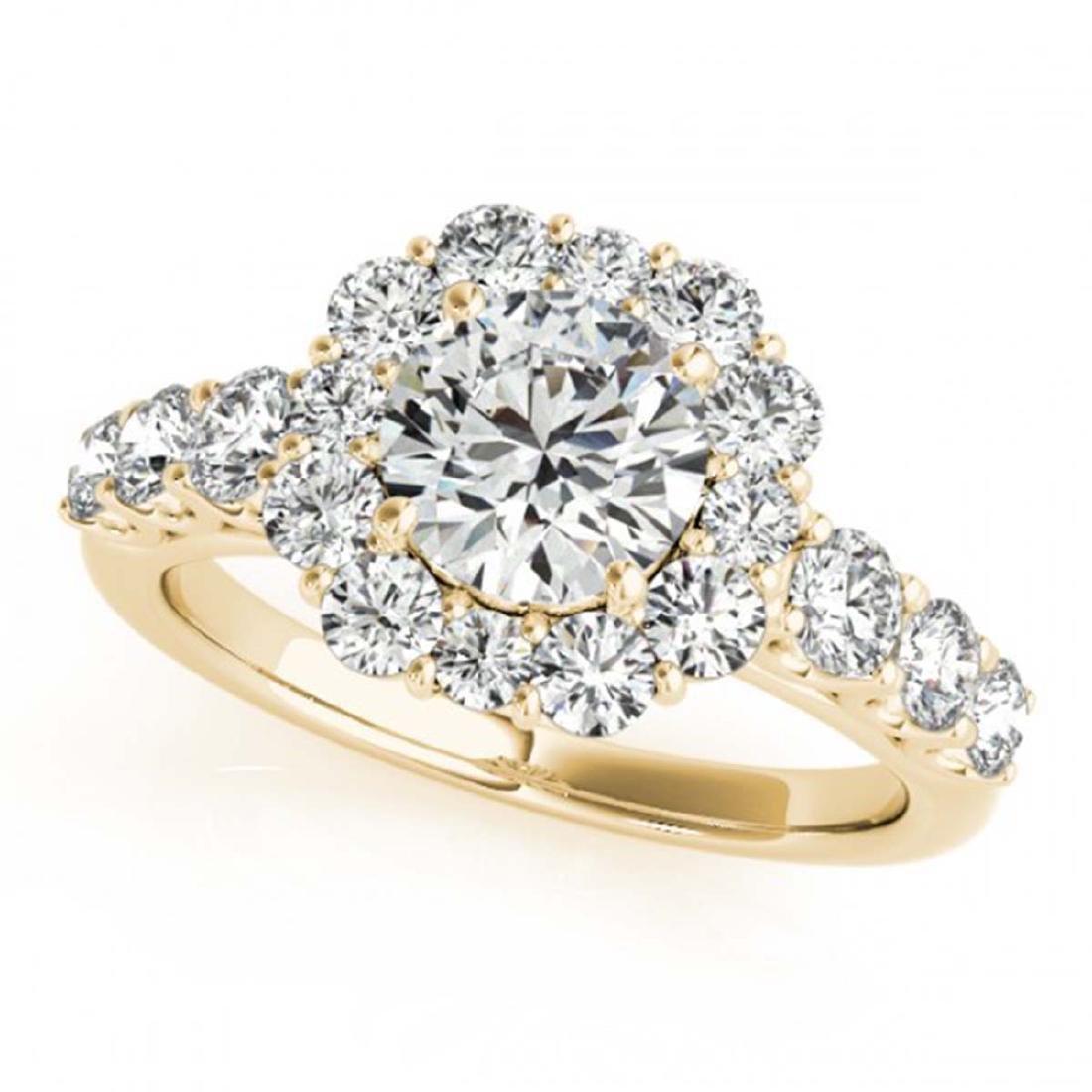 2.25 ctw VS/SI Diamond Halo Ring 18K Yellow Gold -