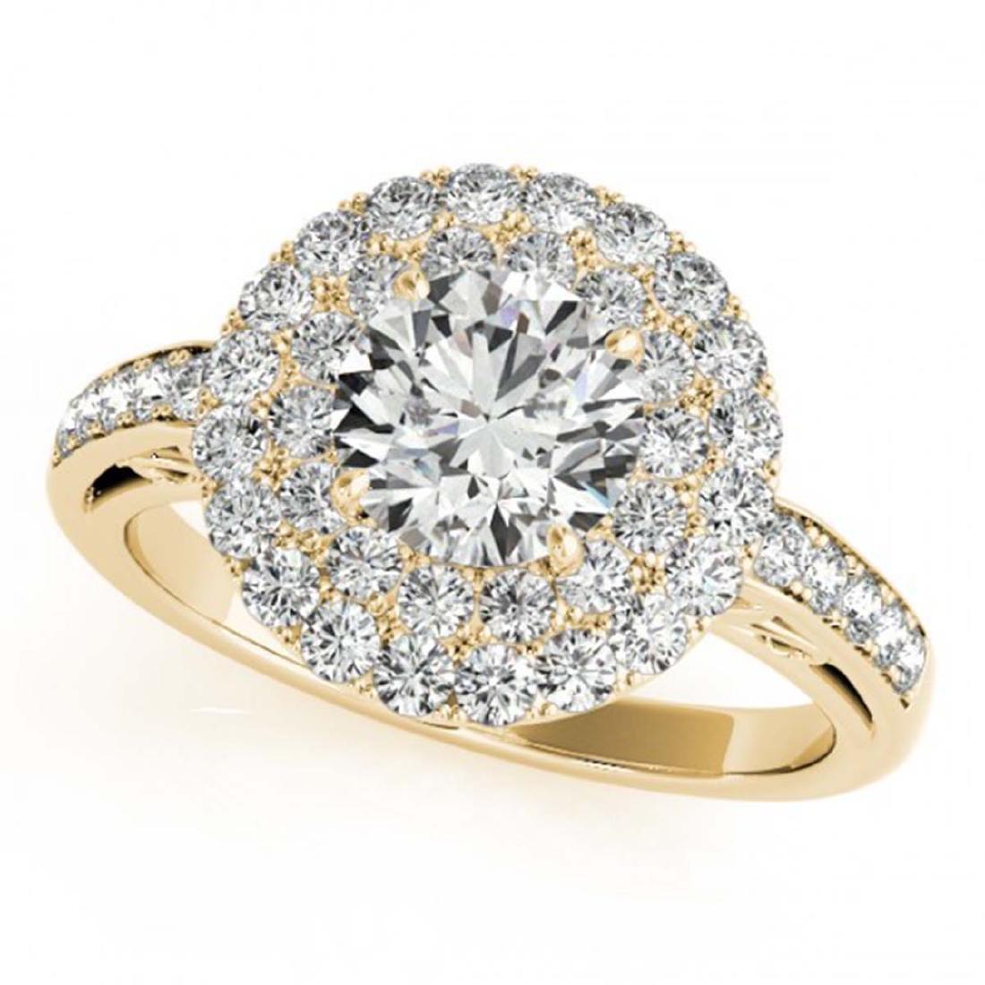 2.25 ctw VS/SI Diamond Halo Ring 18K Yellow Gold - - 2