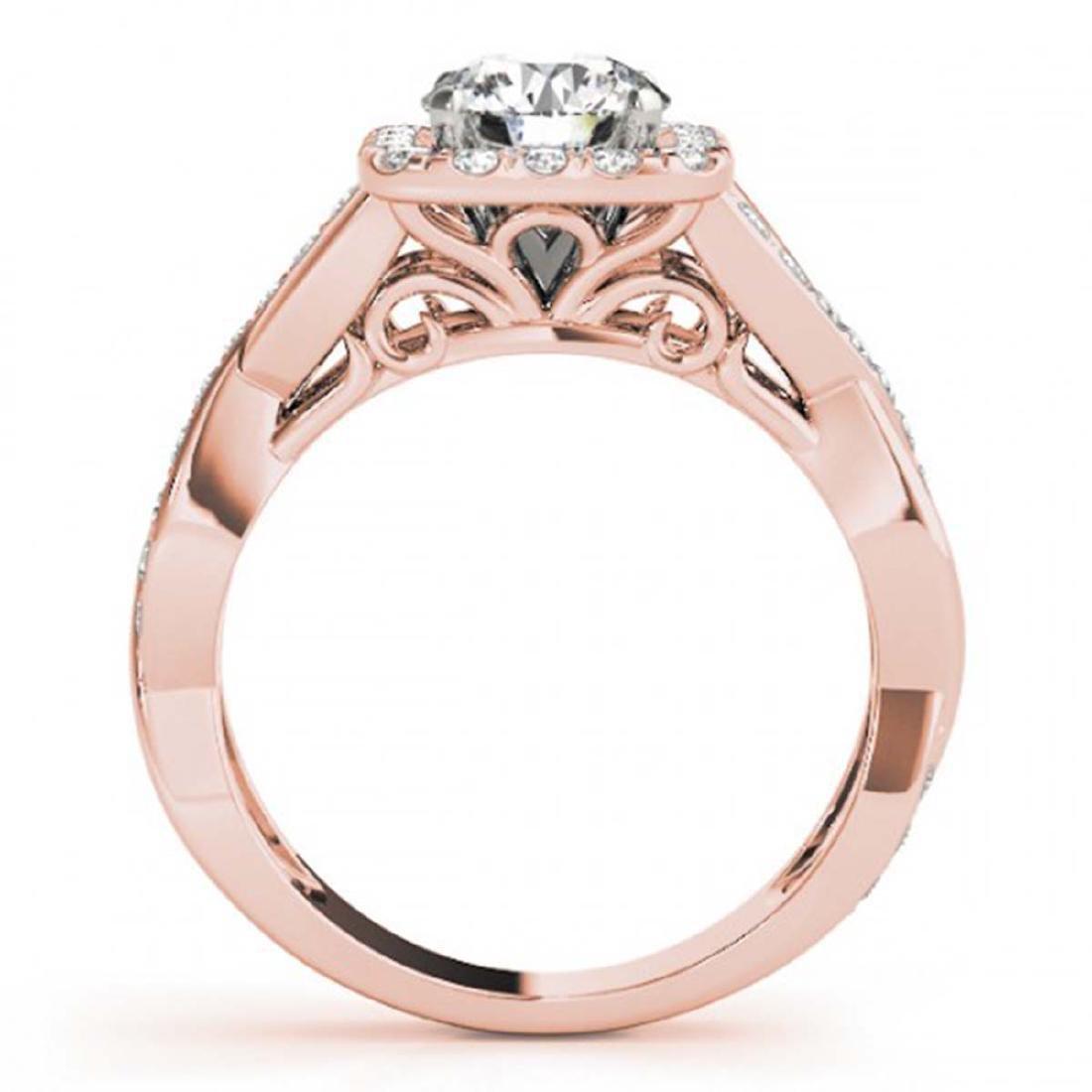 1.65 ctw VS/SI Diamond Halo Ring 18K Rose Gold - - 2
