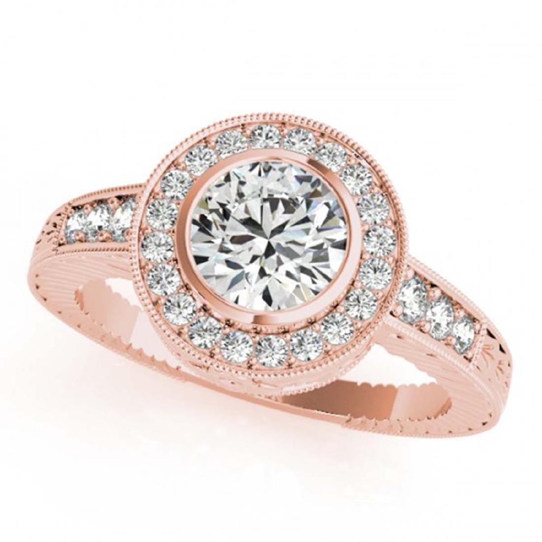 2 ctw VS/SI Diamond Halo Ring 18K Rose Gold -