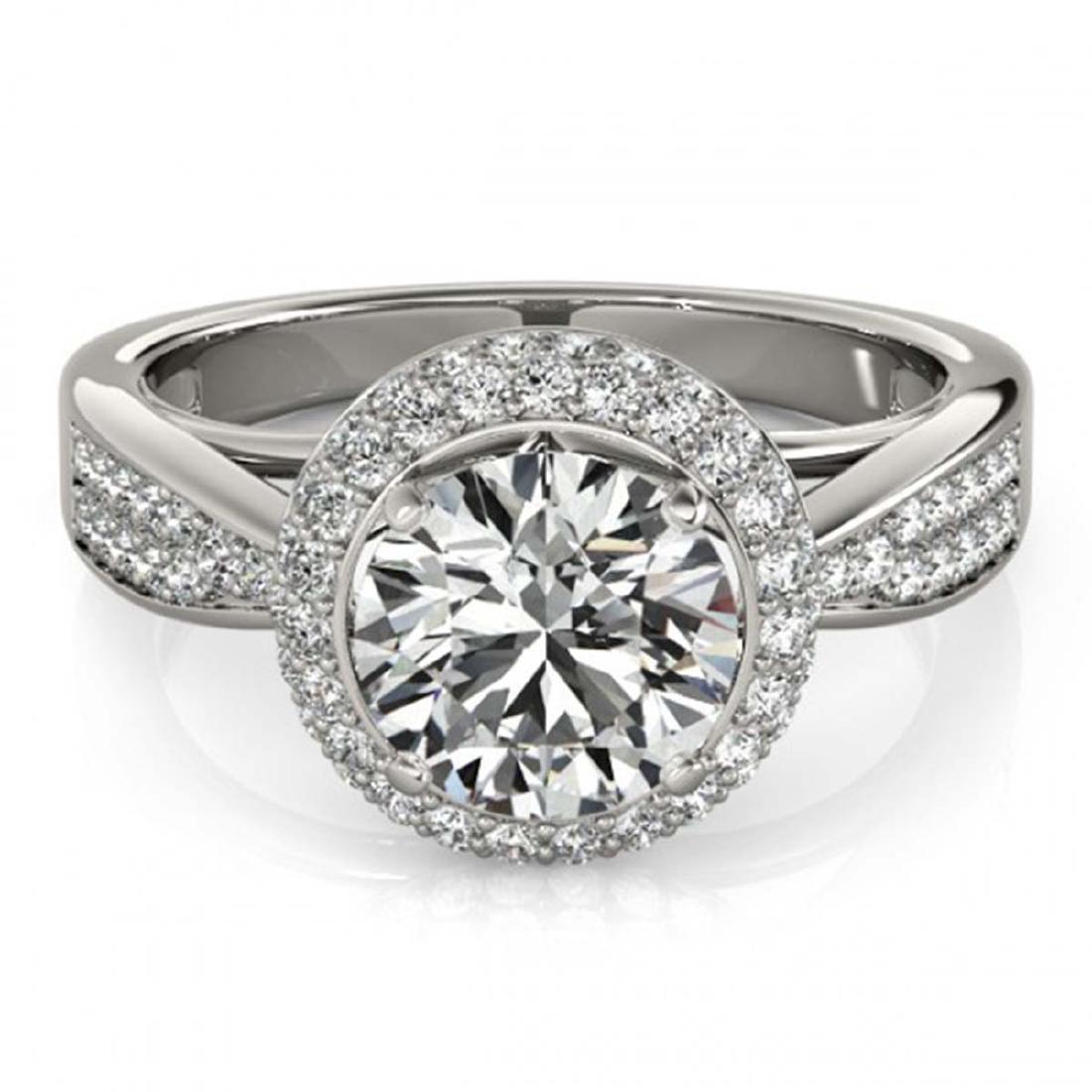 1.65 ctw VS/SI Diamond Halo Ring 18K White Gold -