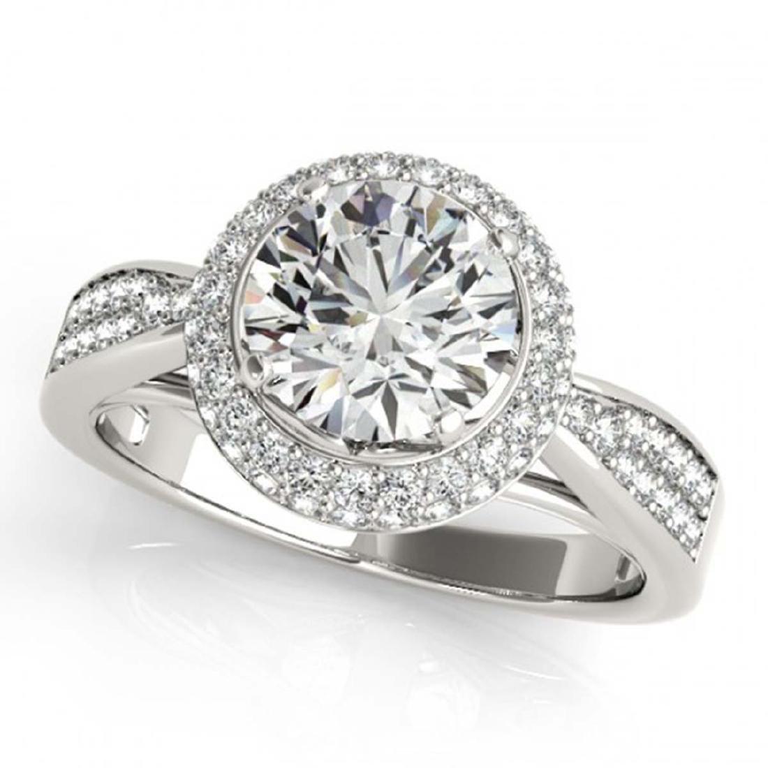 1.65 ctw VS/SI Diamond Halo Ring 18K White Gold - - 2