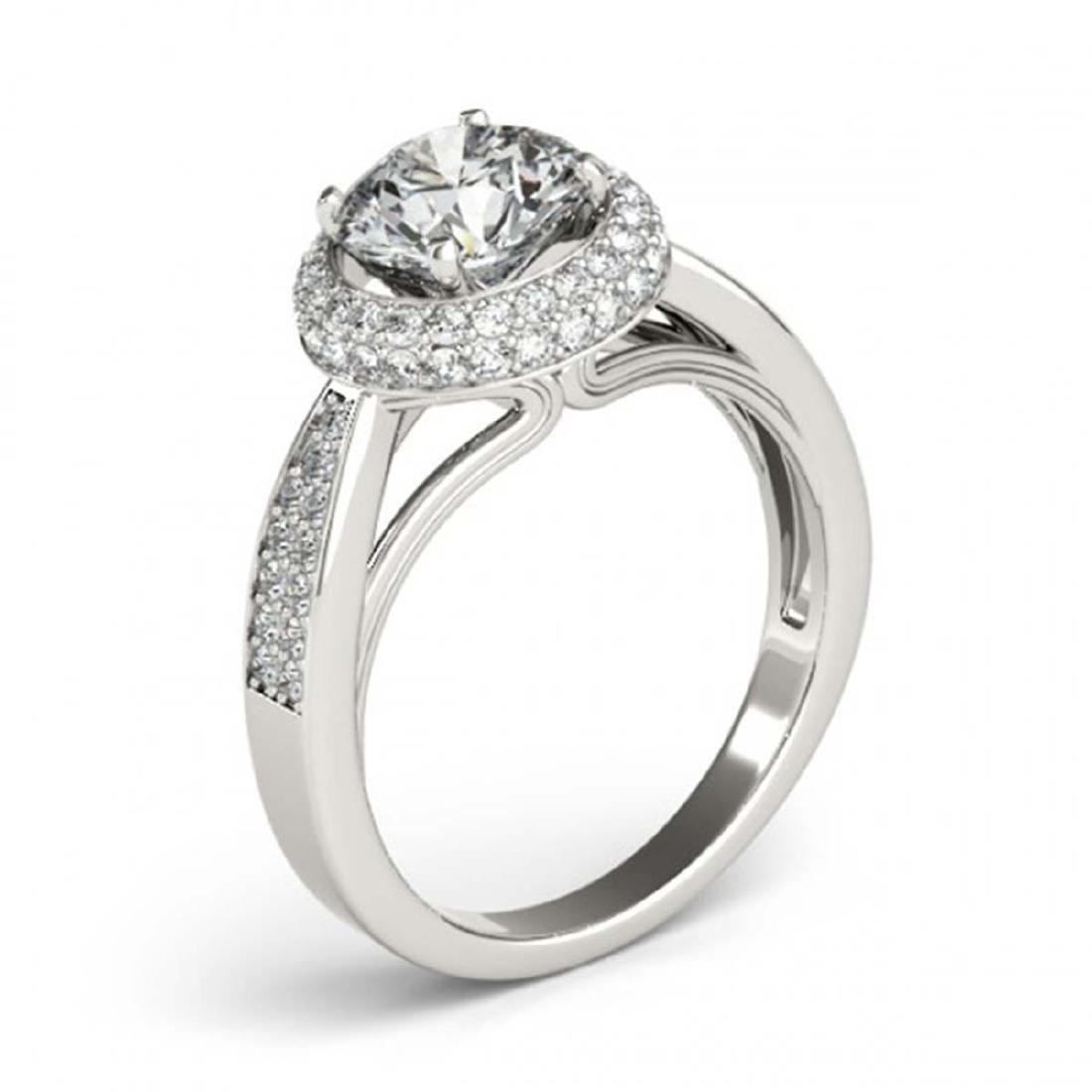 1.65 ctw VS/SI Diamond Halo Ring 18K White Gold - - 3