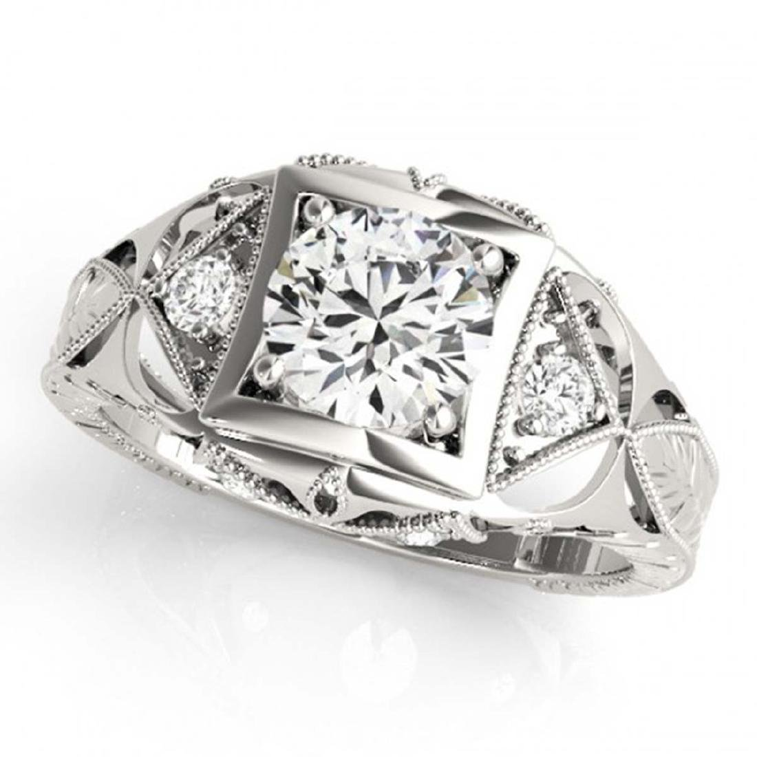 0.60 ctw VS/SI Diamond Ring 18K White Gold - REF-99K2W - 2