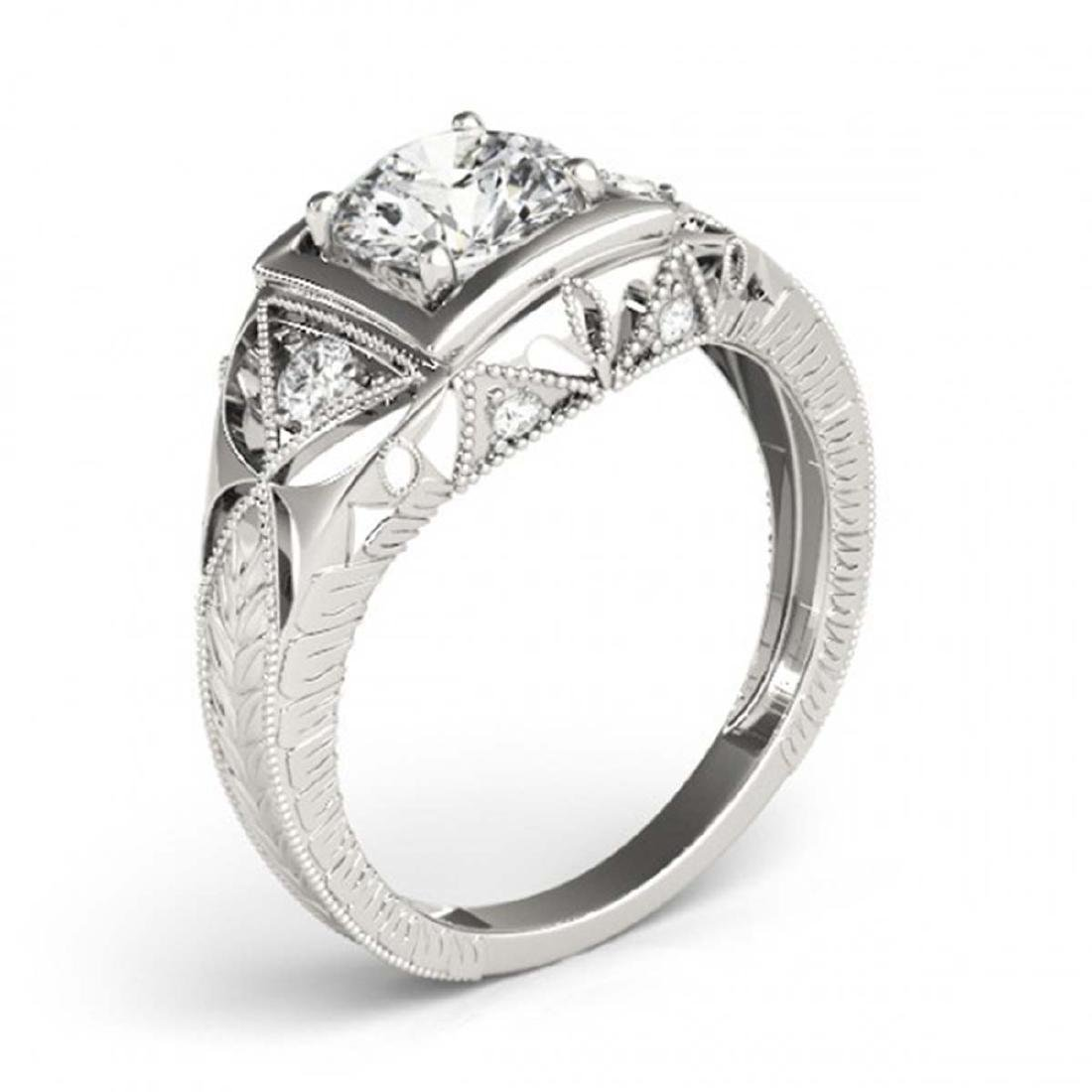 0.60 ctw VS/SI Diamond Ring 18K White Gold - REF-99K2W - 3