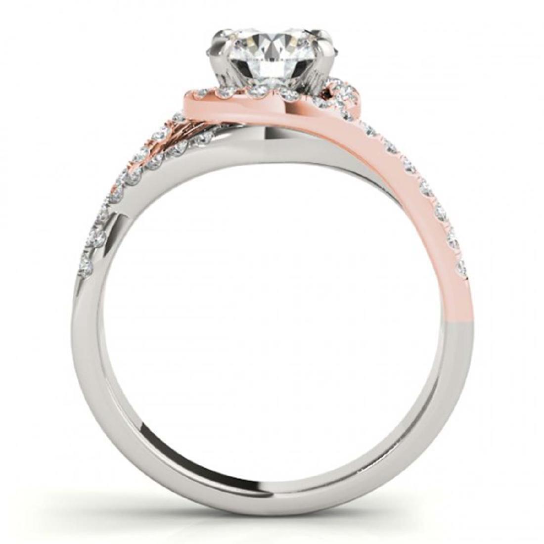 1.50 ctw VS/SI Diamond Solitaire Halo Ring 18K White & - 2