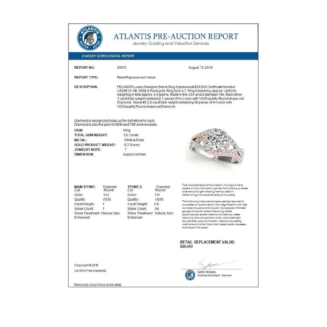 1.50 ctw VS/SI Diamond Solitaire Halo Ring 18K White & - 3