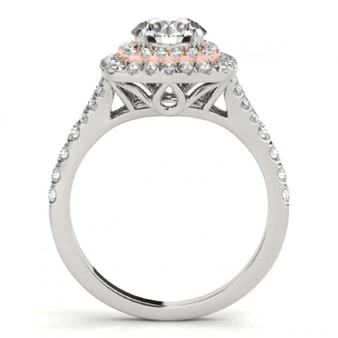1.60 ctw VS/SI Diamond Solitaire Halo Ring 18K White & - 2