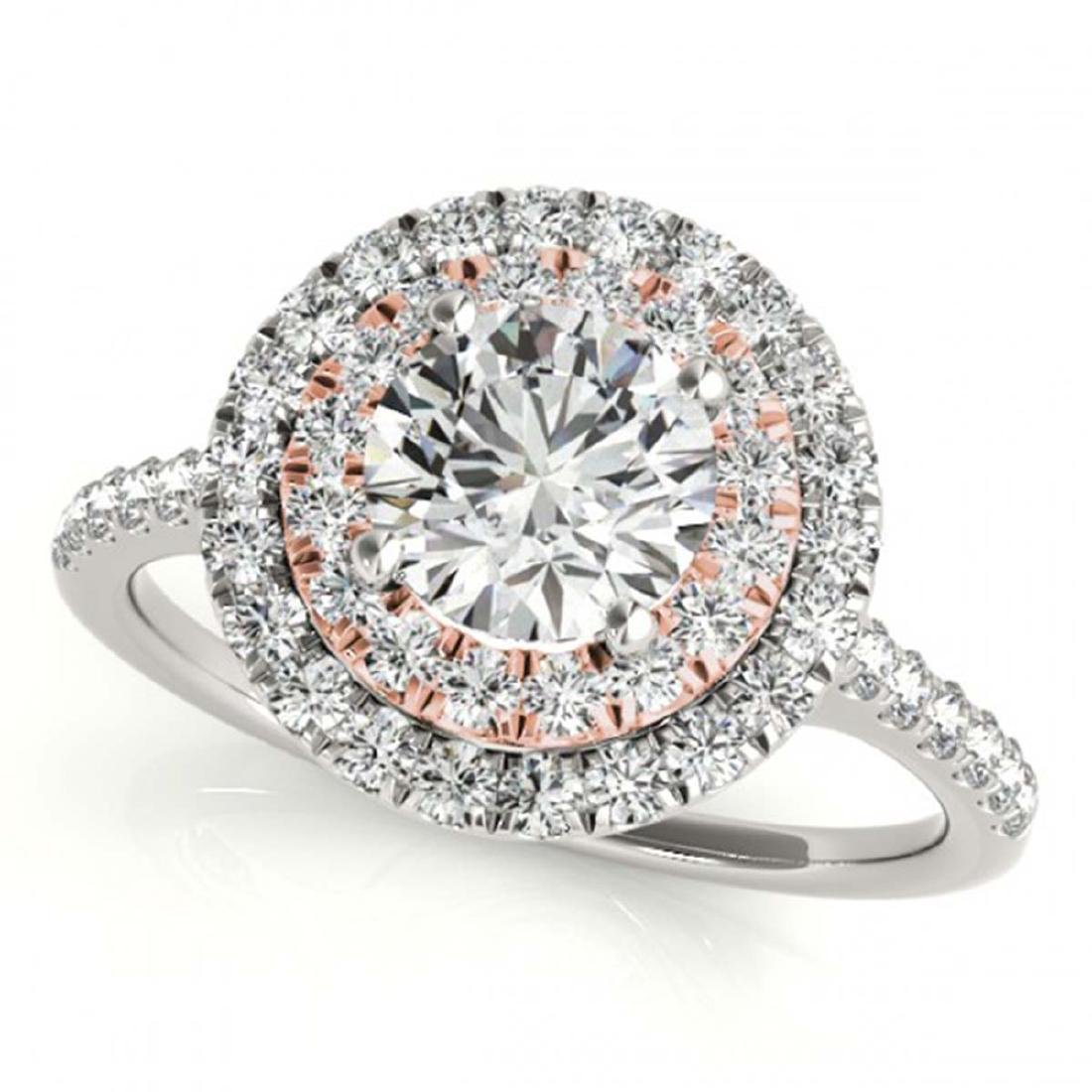 1.25 ctw VS/SI Diamond Solitaire Halo Ring 18K White &