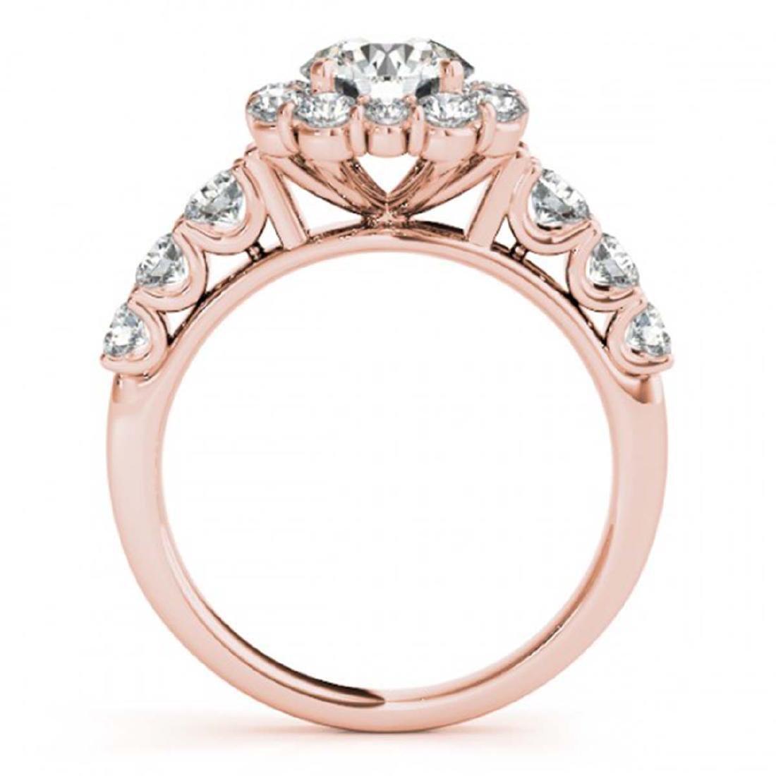 2.25 ctw VS/SI Diamond Halo Ring 18K Rose Gold - - 2