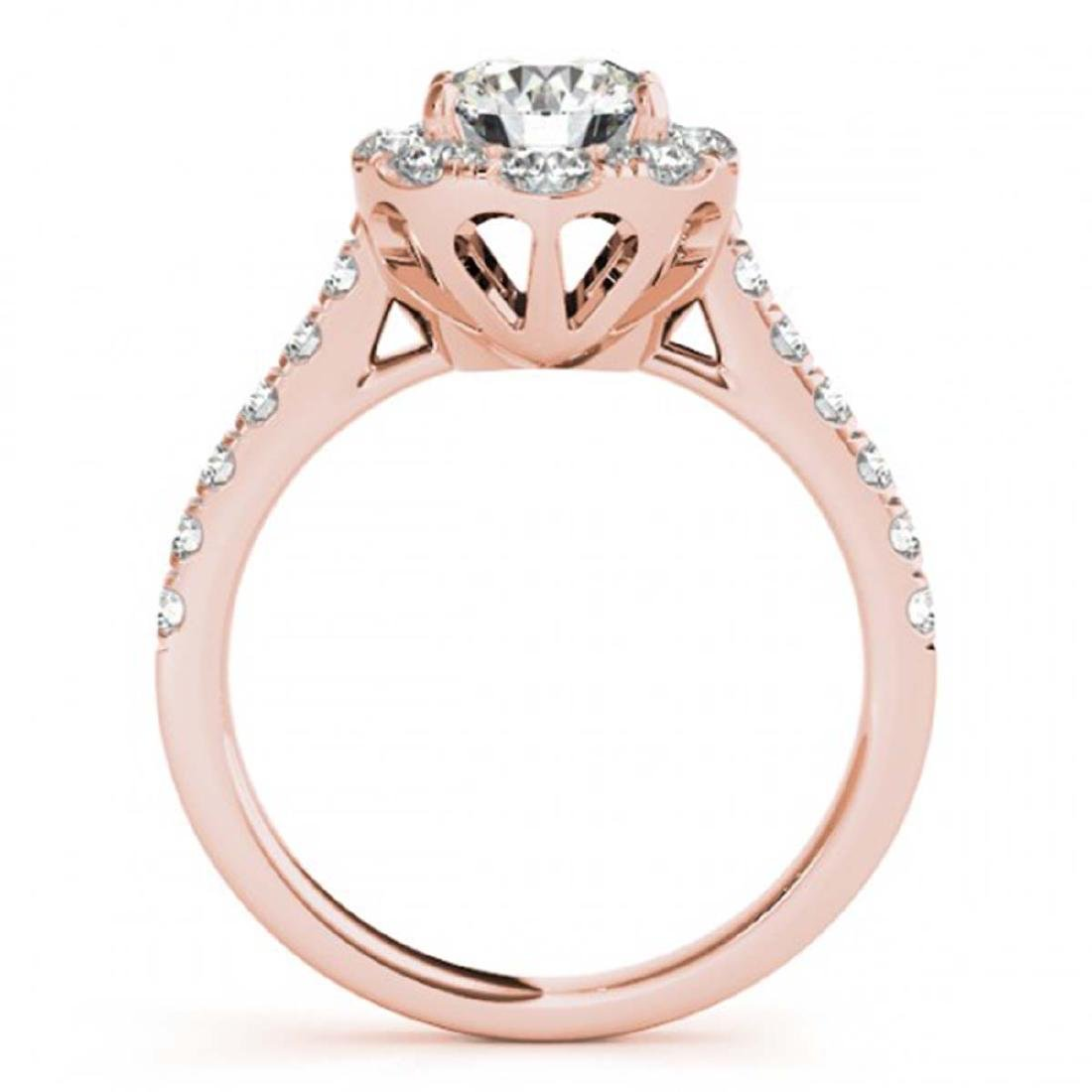 1.70 ctw VS/SI Diamond Halo Ring 18K Rose Gold - - 2