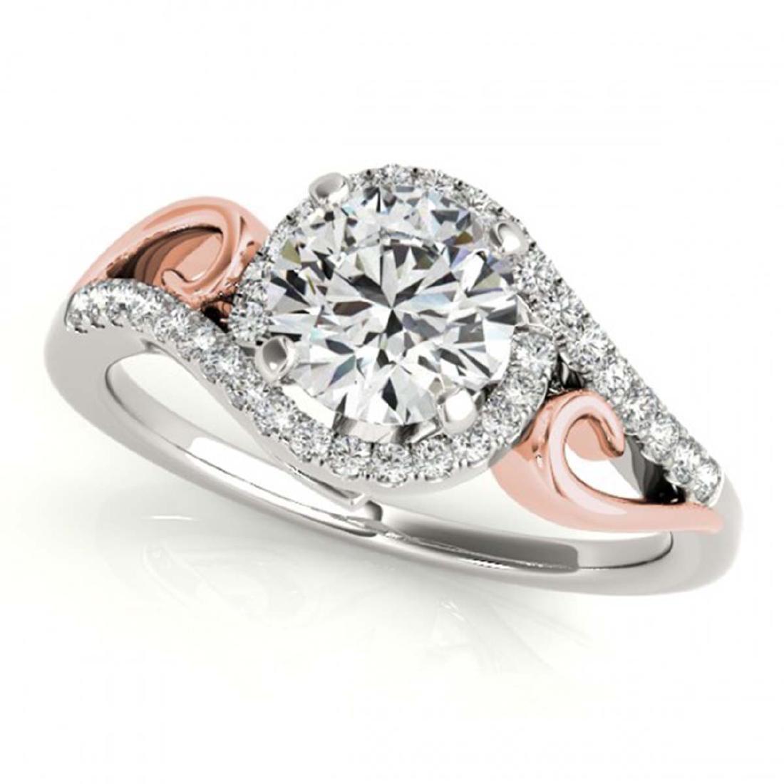 1 ctw VS/SI Diamond Solitaire Halo Ring 18K White &