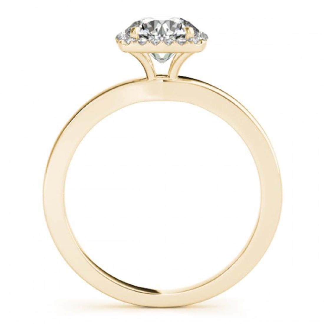 1.15 ctw VS/SI Diamond Halo Ring 18K Yellow Gold - - 2