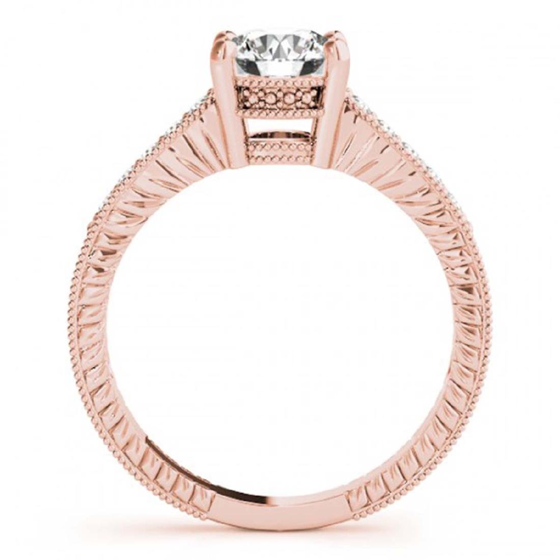 1.75 ctw VS/SI Diamond Ring 18K Rose Gold - REF-502A2V - 2