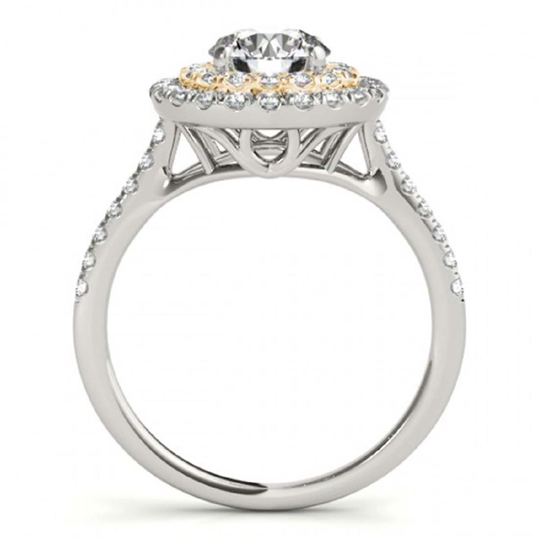 1.25 ctw VS/SI Diamond Solitaire Halo Ring 18K White & - 2