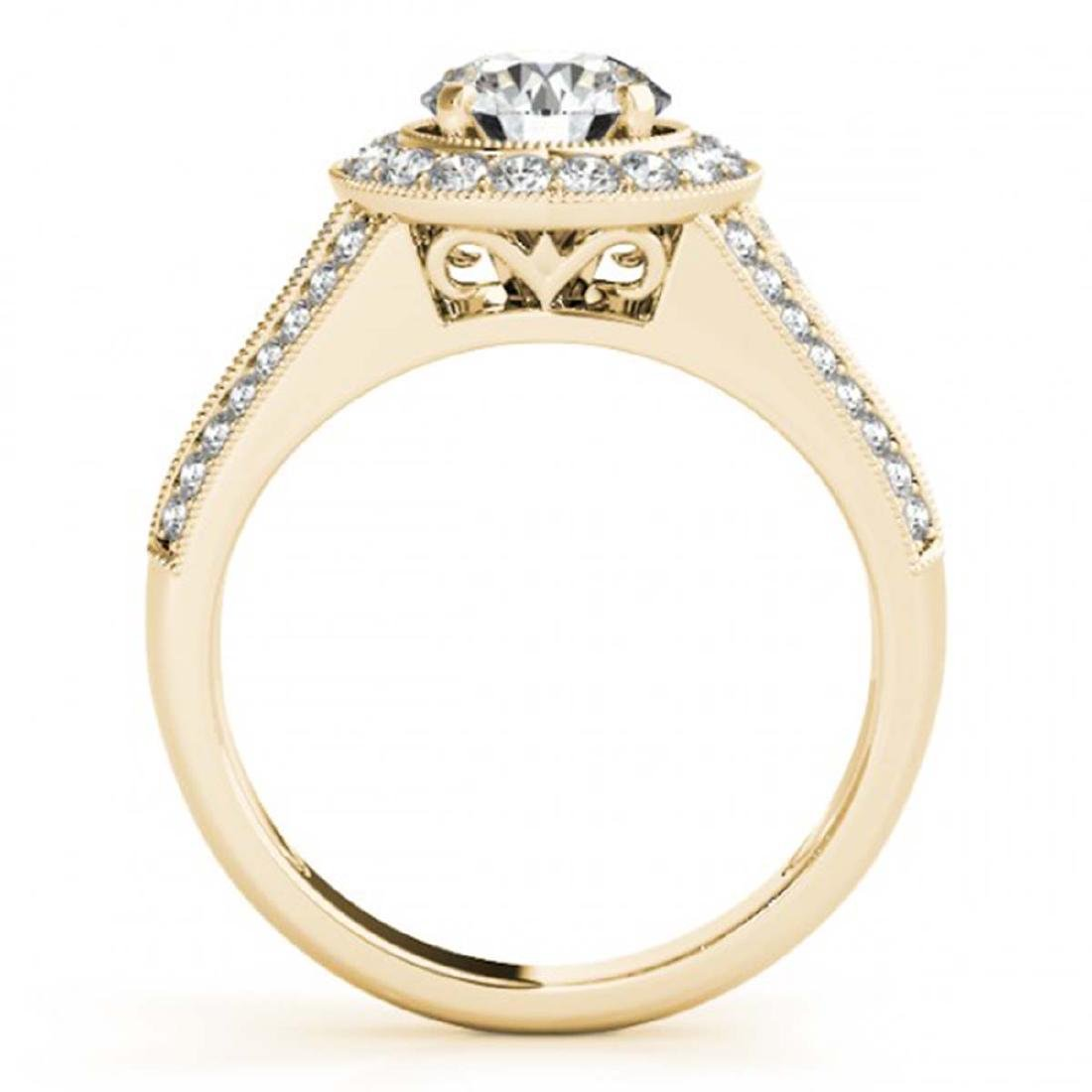 1.70 ctw VS/SI Diamond Halo Ring 18K Yellow Gold - - 2