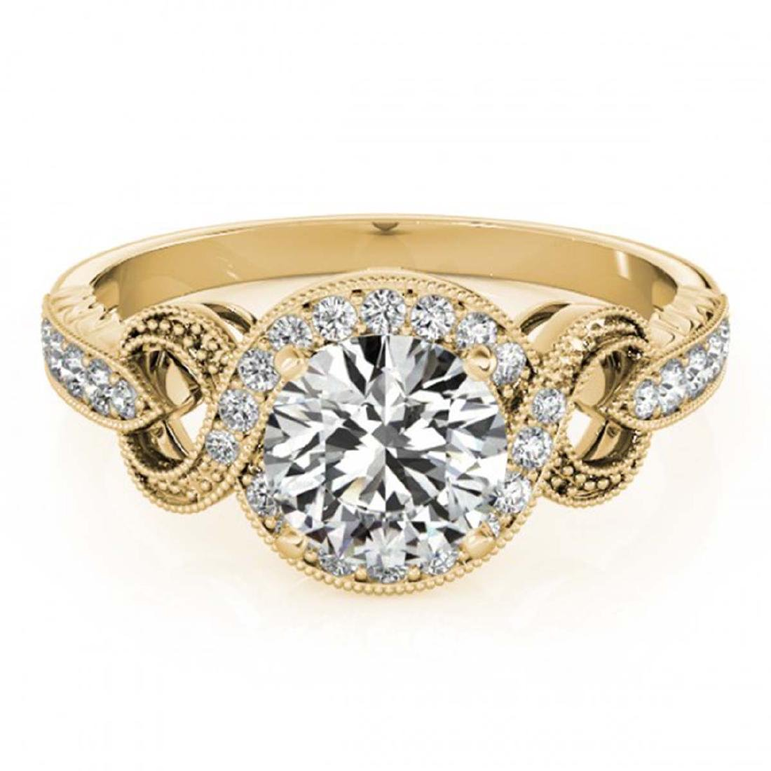 1.33 ctw VS/SI Diamond Halo Ring 18K Yellow Gold -
