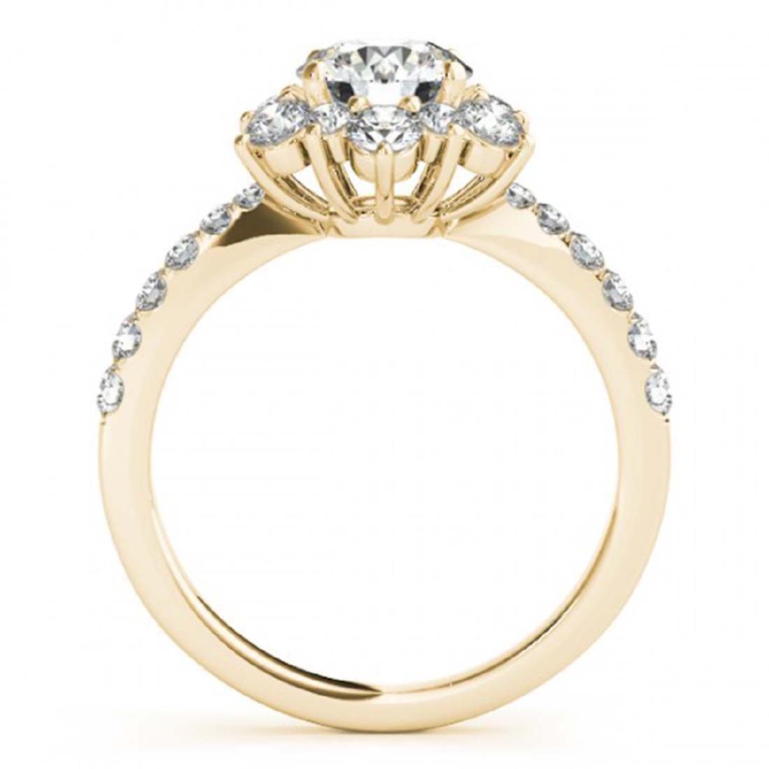2.19 ctw VS/SI Diamond Halo Ring 18K Yellow Gold - - 2