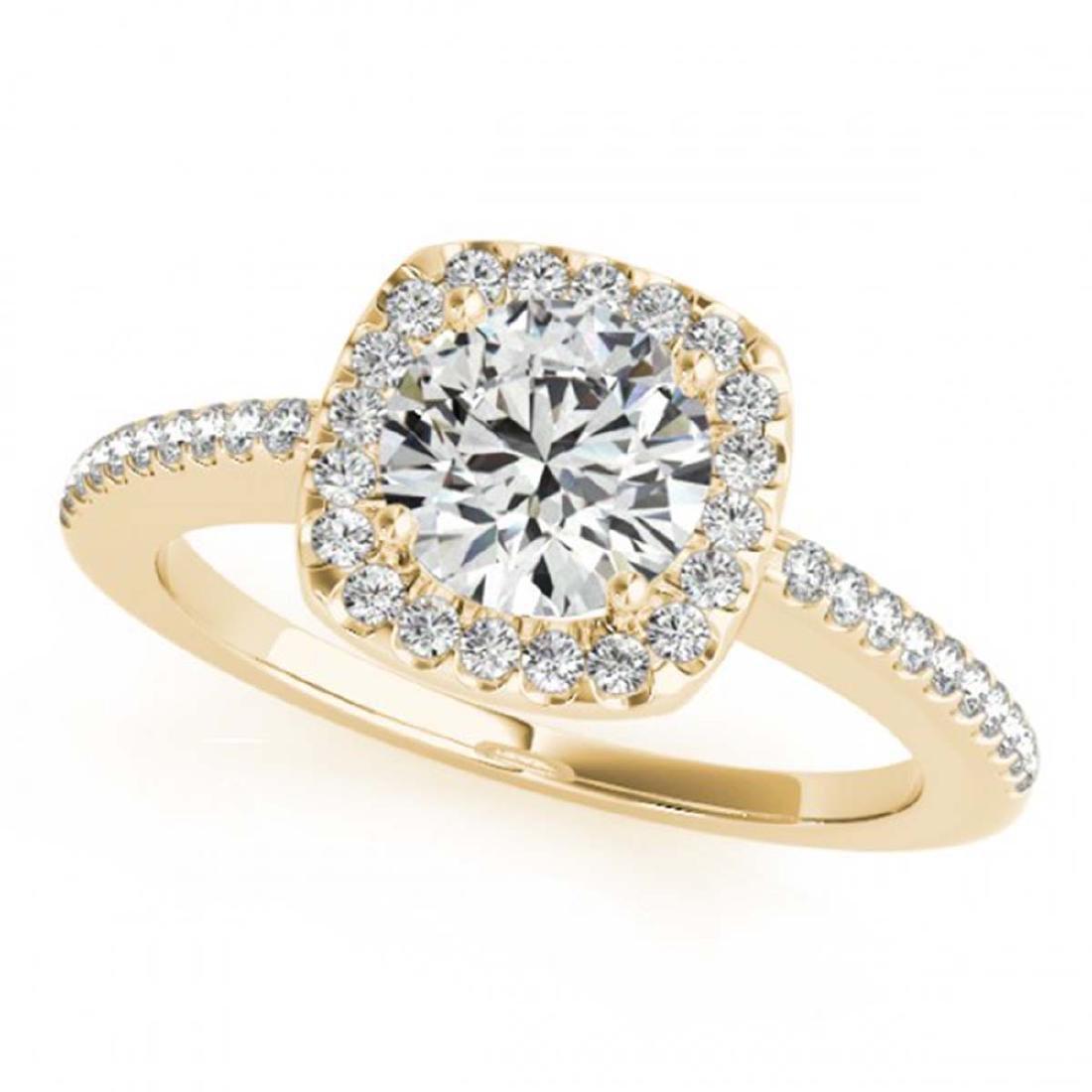 1.01 ctw VS/SI Diamond Halo Ring 18K Yellow Gold -