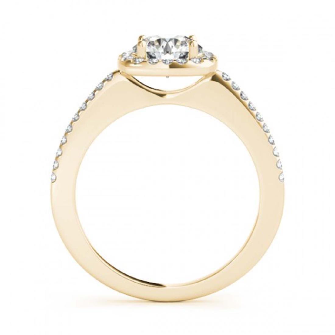 1.01 ctw VS/SI Diamond Halo Ring 18K Yellow Gold - - 2