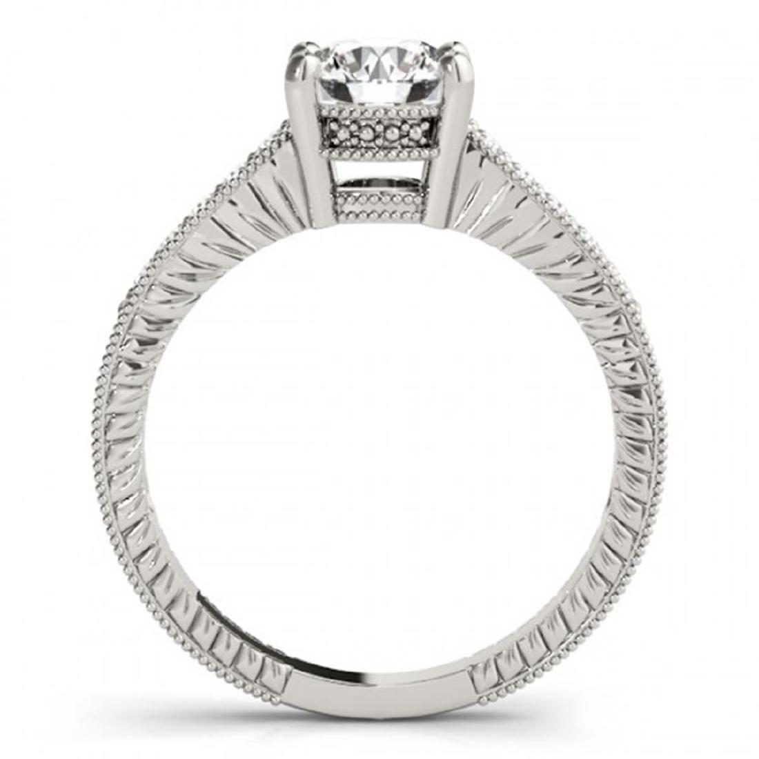0.70 ctw VS/SI Diamond Ring 18K White Gold - REF-98M9F - 2