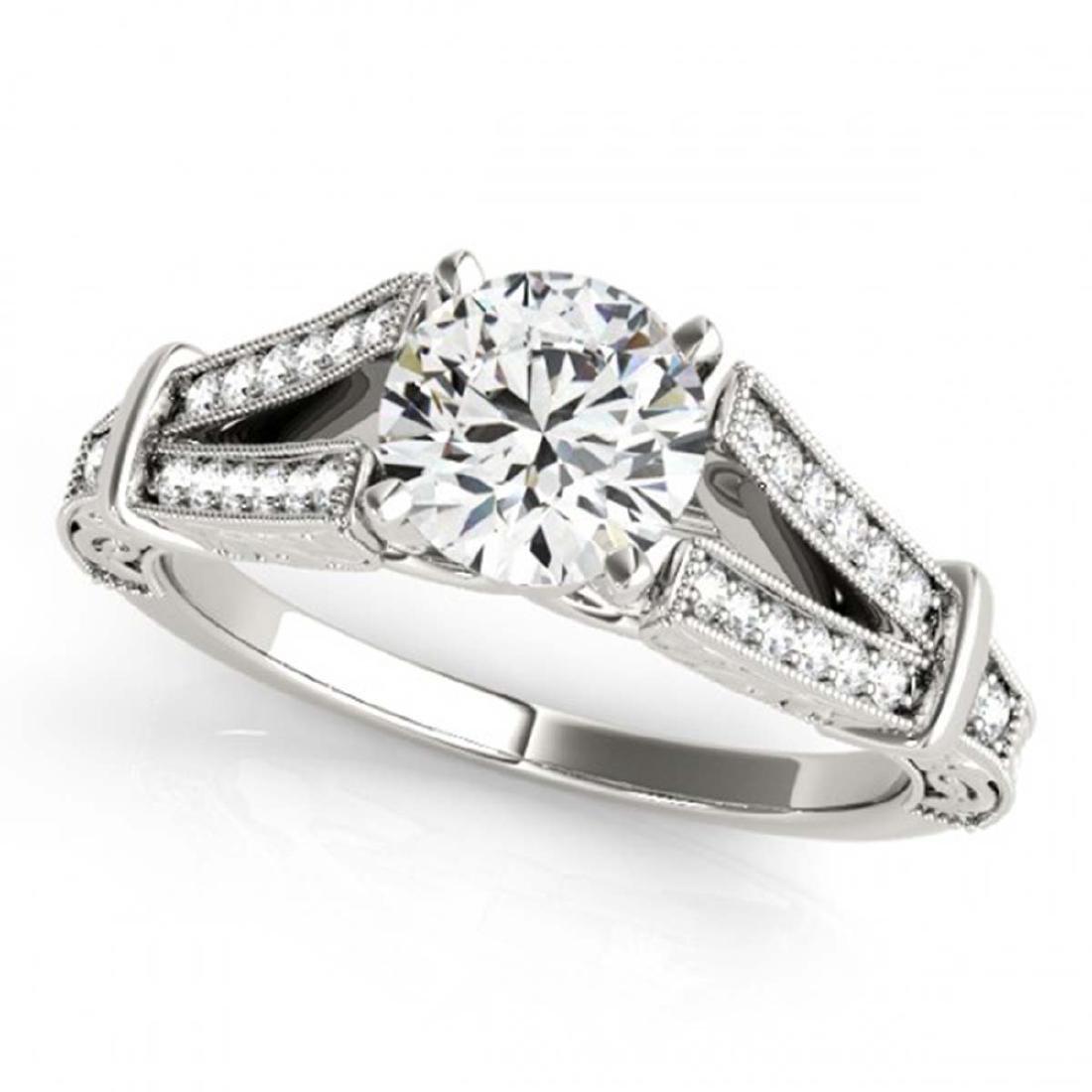 0.75 ctw VS/SI Diamond Ring 18K White Gold - REF-113M2F