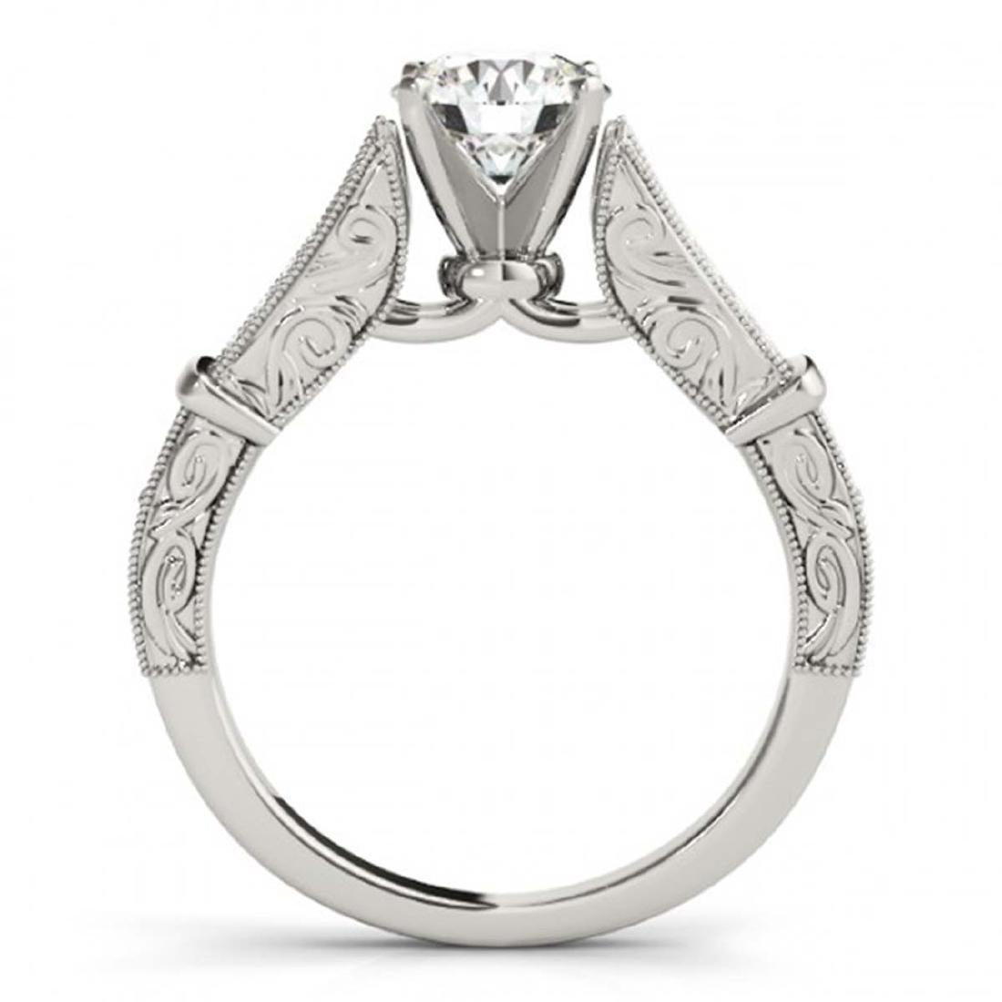 0.75 ctw VS/SI Diamond Ring 18K White Gold - REF-113M2F - 2