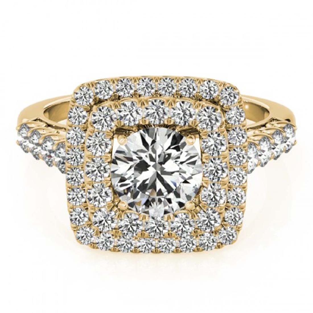 1.80 ctw VS/SI Diamond Halo Ring 18K Yellow Gold -