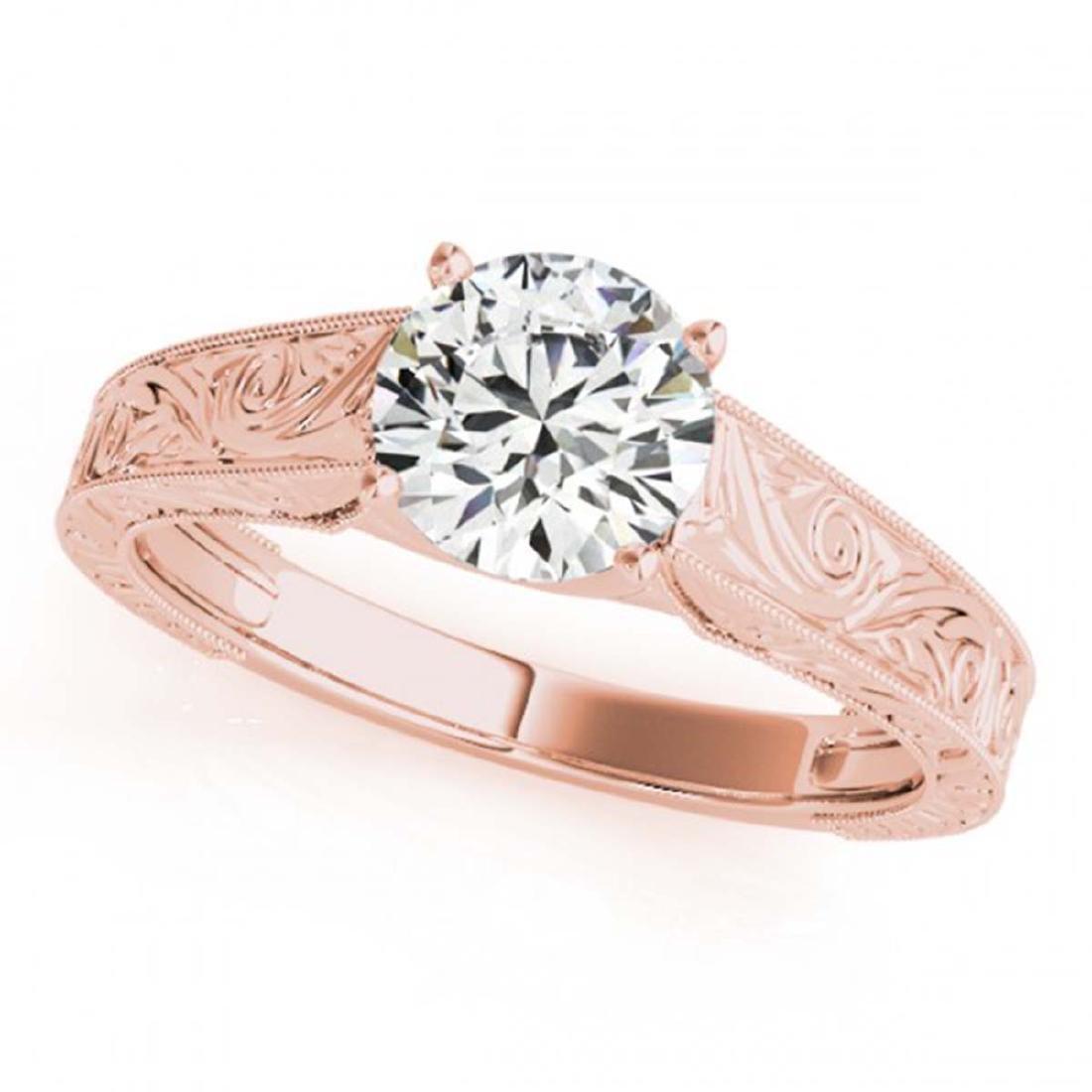 0.75 ctw VS/SI Diamond Ring 18K Rose Gold - REF-135K5W
