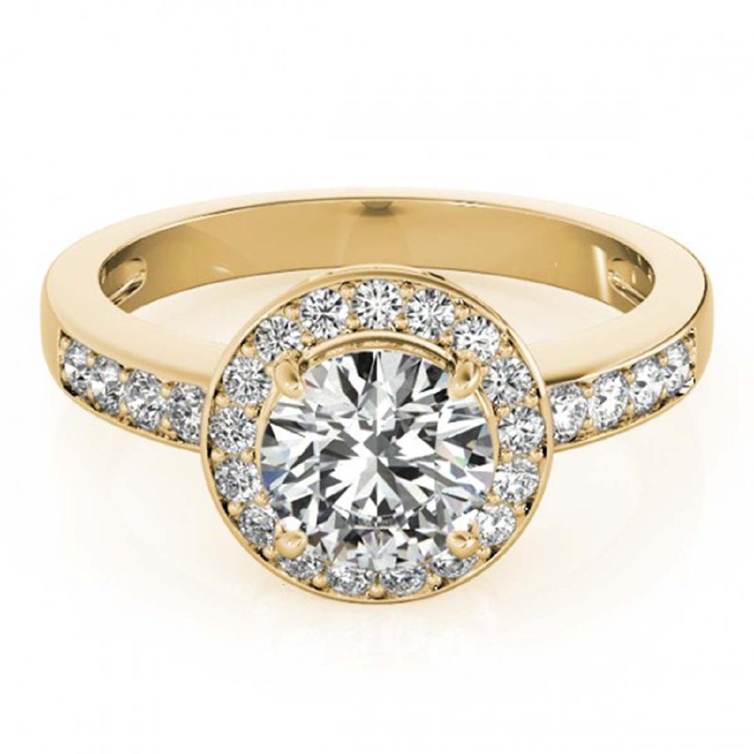1.20 ctw VS/SI Diamond Halo Ring 18K Yellow Gold -