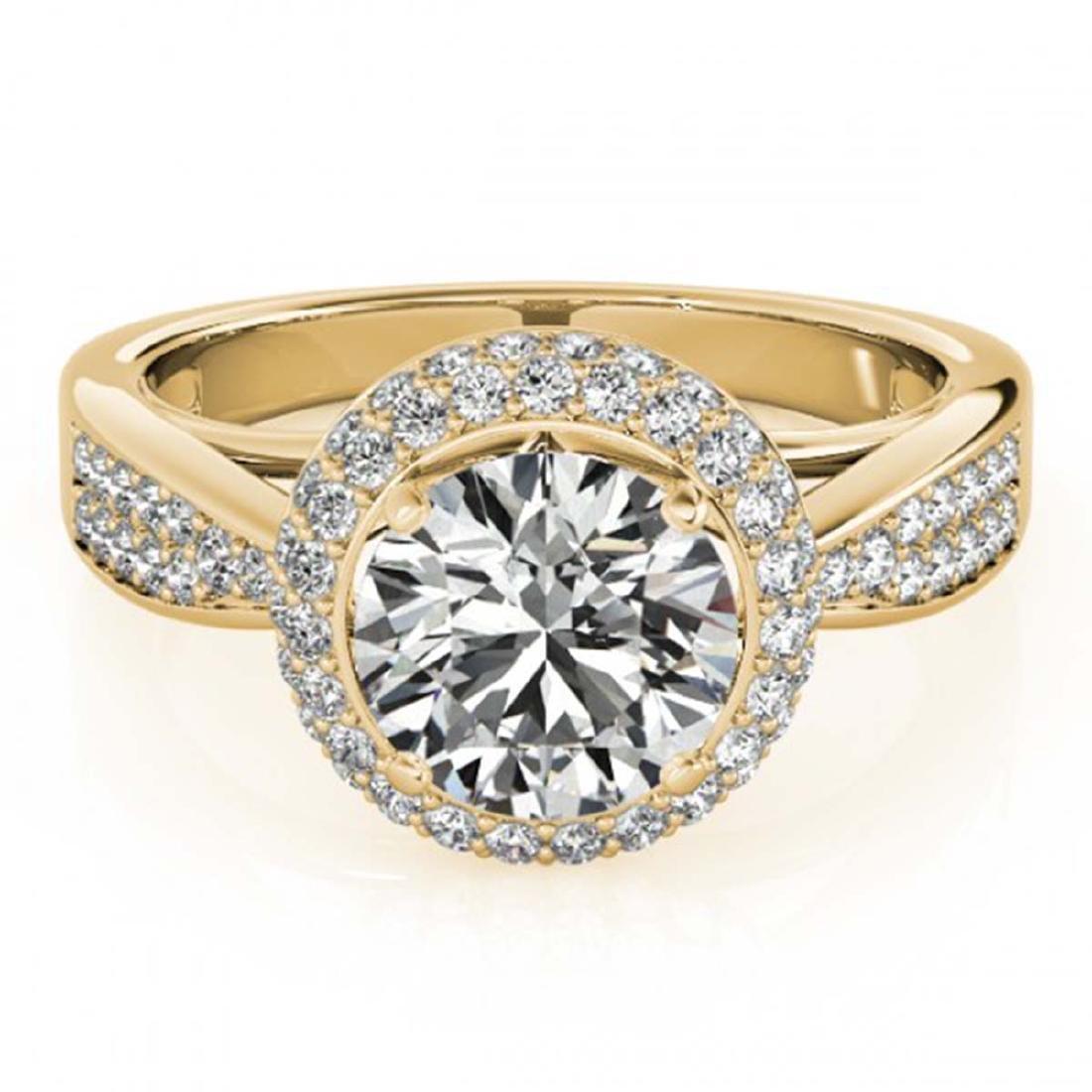 2.15 ctw VS/SI Diamond Halo Ring 18K Yellow Gold -