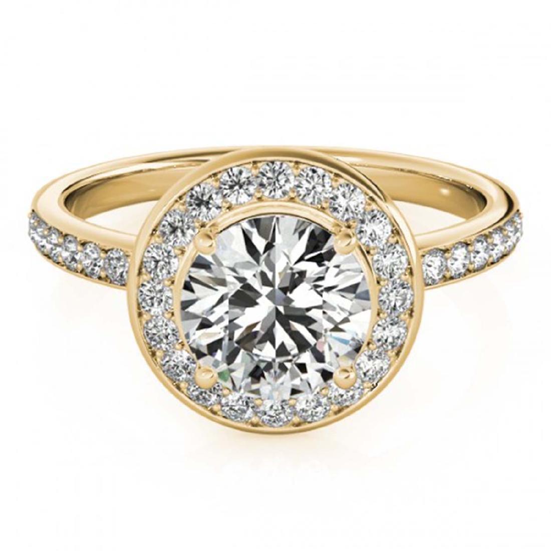 1.08 ctw VS/SI Diamond Halo Ring 18K Yellow Gold -