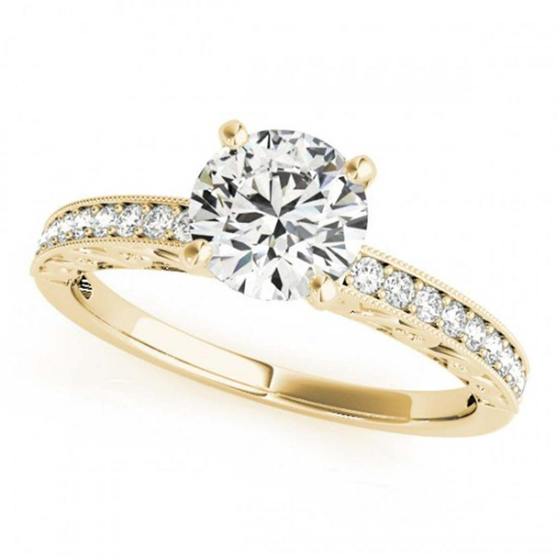 0.70 ctw VS/SI Diamond Ring 18K Yellow Gold - REF-86Y4X
