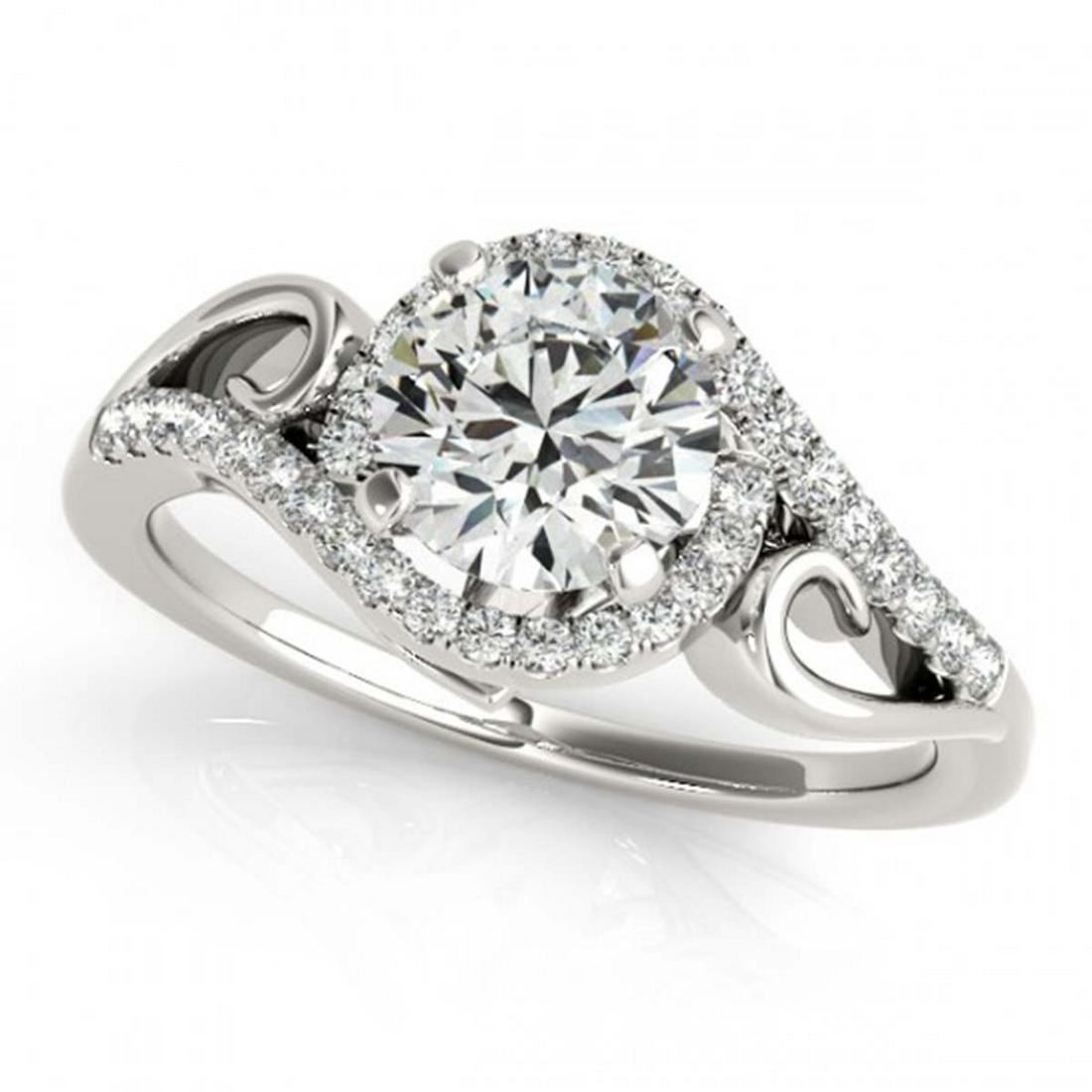 0.75 ctw VS/SI Diamond Solitaire Halo Ring 18K White
