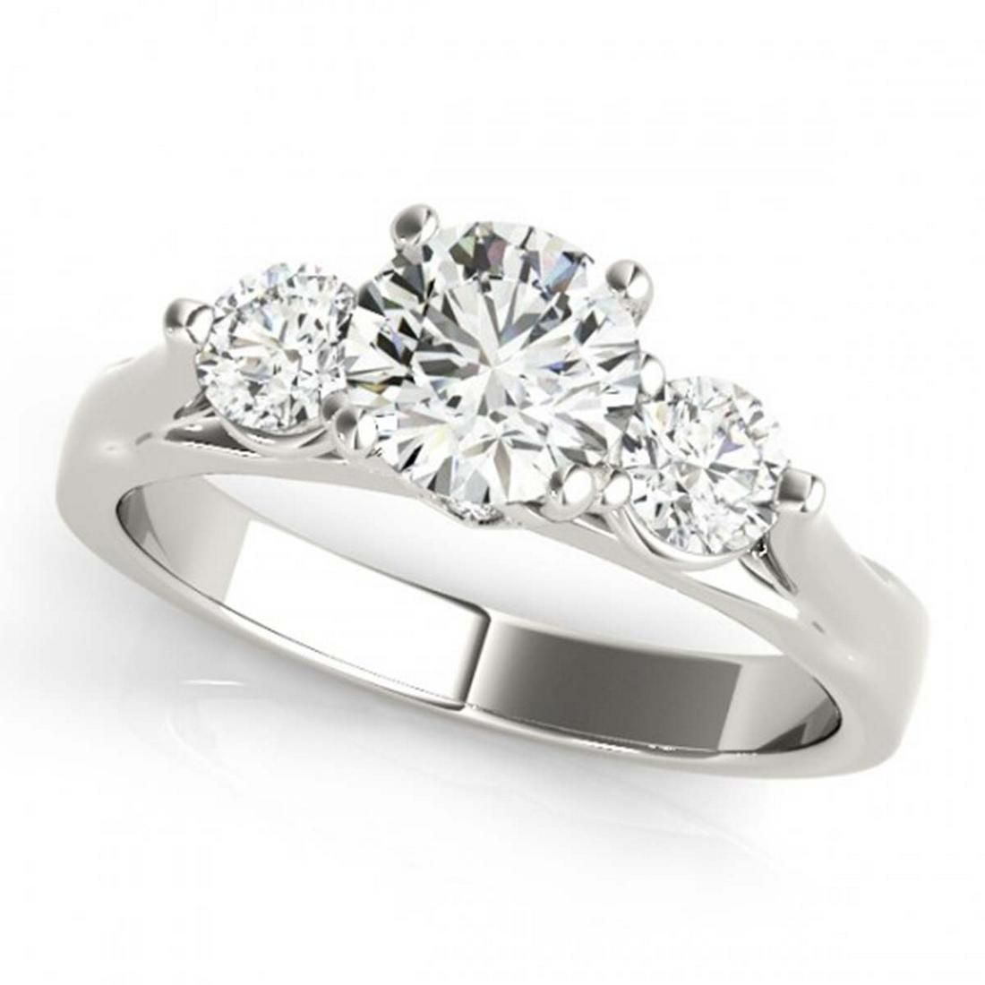 1.25 ctw VS/SI Diamond 3 Stone Ring 18K White Gold -