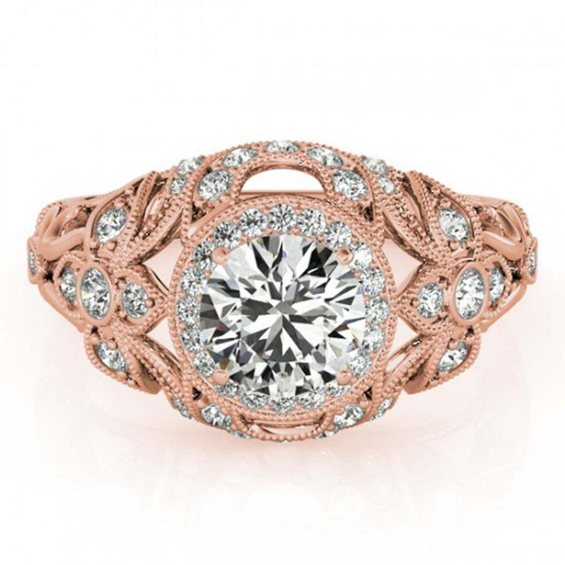 1.25 ctw VS/SI Diamond Ring 18K Rose Gold - REF-167F7N