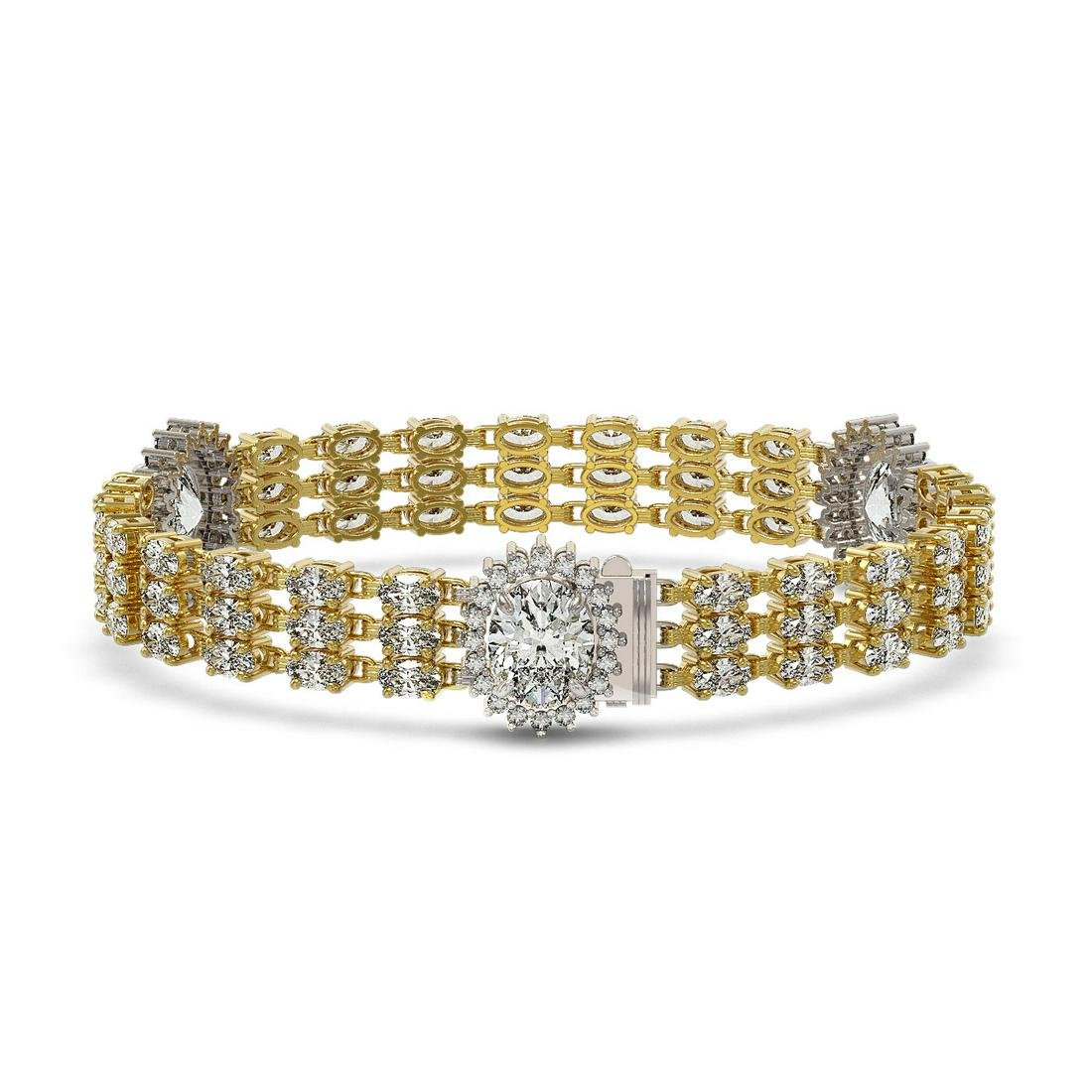 23.74 ctw Oval Diamond Bracelet 18K Yellow Gold -